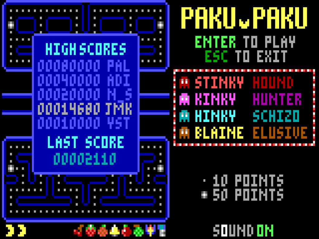 Paku Paku - MS-DOS Compatible - DEATHSHADOW'S MADNESS